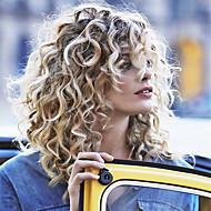 Mulher Perucas de Cabelo Natural Renda Frontal Sem Cola 130% Densidade Corte Bob Enrolado Kinky Curly perucas Cabelo Brasileiro Preto /