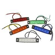 sencart 6led 2835smd fehér / piros / zöld / kék / sárga lámpa fék oldaljelző autó motorkerékpár indikátorok dc12v