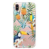billiga Mobil cases & Skärmskydd-fodral Till Apple iPhone X iPhone 8 Genomskinlig Mönster Skal Blomma Frukt Djur Mjukt TPU för iPhone X iPhone 8 Plus iPhone 8 iPhone 7