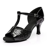 Damen Schuhe für den lateinamerikanischen Tanz Paillette / maßgeschneiderte Werkstoffe Absätze Maßgefertigter Absatz Maßfertigung / Innen