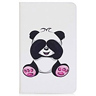 Etui Til Samsung Galaxy Fuldt etui / Tablet Etuier Panda Hårdt PU Læder for Tab A 10.1 (2016)