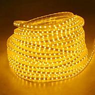 20m 220v Higt яркие светодиодные полосы света гибкие 5050 1200smd три кристаллические водонепроницаемый свет бар света сада с штепсельной
