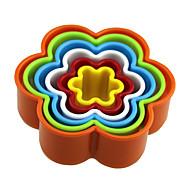 forma de flor 5pcs forma bolo moldagem de molde de fermento molde de bolo, ferramenta de cozimento