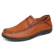 Homme Chaussures Cuir Cuir Nappa Printemps Automne Confort Mocassins et Chaussons+D6148 Pour Décontracté Soirée & Evénement Noir Marron