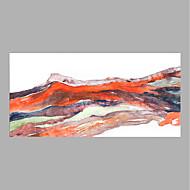 Pintados à mão Floral/Botânico Horizontal,Abstracto 1 Painel Tela Pintura a Óleo For Decoração para casa
