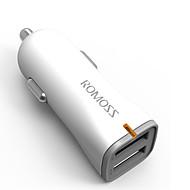 billiga Billaddare för mobilen-Snabbladdning Trådlös Bluetooth 2 USB-portar Endast laddare DC 5V/2.4A