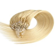 40g/50g 100strands Indian Premier Remy Loop Micro Ring 100% Human Hair Extensions 8A