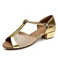 """baratos Sapatilhas de Dança-Mulheres Latina Materiais Customizados Salto Interior Salto Baixo Dourado Prata Vermelho Azul 1 """"- 1 3/4"""" Personalizável"""