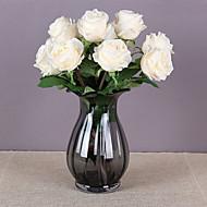 billige Kunstige blomster-1 Gren Silke Planter Bordblomst Kunstige blomster Hjem Dekor Bryllupsblomster