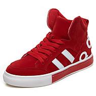 Dames Schoenen PU Herfst Winter Comfortabel Sneakers Voor Causaal Zwart Rood