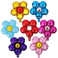10pcs / set vijf bloemen aluminiumfolie ballonnen 58x50cm kleur willekeurig
