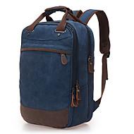 billige Computertasker-Herre Tasker Lærred Laptoptaske Lynlås for Afslappet Blå / Kaffe / Kakifarvet