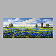 cheap Oil Paintings-Hand-Painted Landscape Horizontal,Abstract One Panel Canvas Oil Painting For Home Decoration