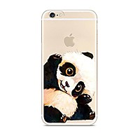 Para iPhone 7 iPhone 7 Plus Case Tampa Ultra-Fina Translúcido Estampada Capa Traseira Capinha Animal Panda Macia PUT para Apple iPhone 7