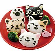 billige Bakeredskap-3 stk søt smil katt sushi nori ris mold bento maker sandwich diy verktøyet