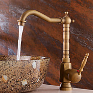 Antique Brass Bathroom Sink Faucet