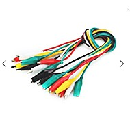 double tête crocodile alligator clip test cable câble 10pcs 40cm