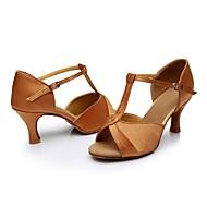 baratos Sapatilhas de Dança-Mulheres Sapatos de Dança Latina Paetês / Materiais Customizados Salto Lantejoula Salto Agulha Personalizável Sapatos de Dança Preto /