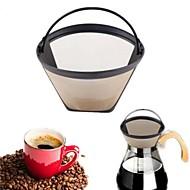 novo tom de ouro reusável permanente # 4 cone forma café filtro filtro de cesta de malha