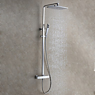 cheap Discount Faucets-Contemporary Modern Style Wall Mounted Rainfall Rain Shower Handshower Included Ceramic Valve Chrome, Shower Faucet