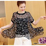 Dame Bomuld, Trykt mønster I-byen-tøj Bluse