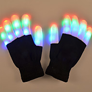 youoklight 1w 6 modo que pisca o dedo conduziu o presente colorido das luvas 1pair
