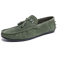 baratos Sapatos Masculinos-Homens Mocassim Camurça Primavera / Outono Mocassins e Slip-Ons Cinzento / Khaki / Verde Escuro