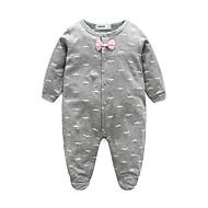 Χαμηλού Κόστους -Μωρό Γιούνισεξ Ένα Κομμάτι 100% Βαμβάκι Σαββατοκύριακο Άνοιξη/Χειμώνας Μακρυμάνικο Ανθισμένο Ροζ Γκρίζο Μπλε Απαλό