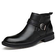 cheap Extended-Size Shoes-Men's Shoes Nappa Leather Spring / Fall Fashion Boots Boots Mid-Calf Boots Black / Party & Evening