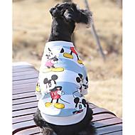 Hund Sweatshirt Hundetøj Afslappet/Hverdag Tegneserier Blå Lys pink Kostume For kæledyr