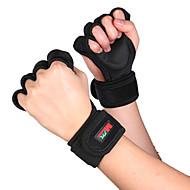 Sporthandschuhe Outdoor Halbe Finger Rutschfest Elasthan Kratzbaum Einfaches An- und Ausziehen für Freizeit-Radfahren Übung & Fitness