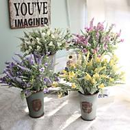 Jeden díl 1 Větev Umělá hmota Rostliny Květina na stůl Umělé květiny