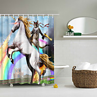 cheap Shower Curtains-PolyesterMaterialwith High Quality Shower Curtains & Hooks