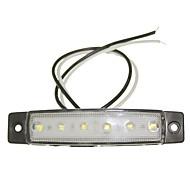 sencart 12pcs 6led 2835smd fehér lámpa fék oldaljelző lámpa teherautó pótkocsi indikátor dc24v