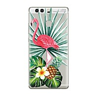 billiga Mobil cases & Skärmskydd-fodral Till huawei P9 / Huawei P9 Lite / Huawei P8 P10 / P9 Genomskinlig / Mönster Skal Genomskinlig / Flamingo / Träd Mjukt TPU för P10 Plus / P10 Lite / P10 / Huawei P9 Plus / Mate 9 Pro