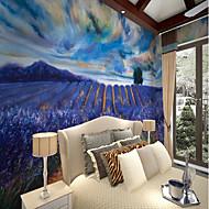 billige Tapet-Blomst Natur og landskap Klassisk Hjem Dekor Pastorale Stilen Tradisjonell Tapetsering, Lerret Materiale selvklebende nødvendig Veggmaleri