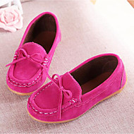 cheap Girls' Shoes-Girls' Shoes Suede Summer Fall Moccasin Comfort Loafers & Slip-Ons Bowknot for Casual Party & Evening Yellow Fuchsia Brown Blue Wine