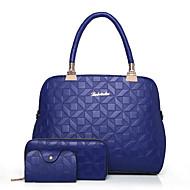 여성 가방 사계절 PU 가방 세트 패턴 / 프린트 용 캐쥬얼 푸른 화이트 블랙 루비 블러슁 핑크