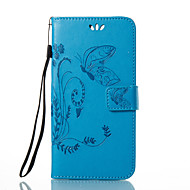 billiga Mobil cases & Skärmskydd-fodral Till Huawei Honor 4X / huawei P9 / Huawei P9 Lite P10 / P9 Plånbok / Korthållare / med stativ Fodral Fjäril / Blomma Hårt PU läder för P10 Plus / P10 Lite / P10 / Huawei P9 Plus