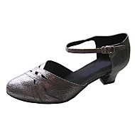 billige Moderne sko-Dame Moderne sko Sateng Sandaler Kustomisert hæl Dansesko Beige / Grå / Marineblå / Innendørs
