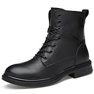 baratos Sapatos Masculinos-Homens Curta/Ankle Couro Outono / Inverno Botas Botas Curtas / Ankle Preto / Festas & Noite