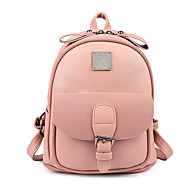 Women Bags All Seasons PU Backpack Pockets for Casual Office & Career Blue Brown Black Blushing Pink