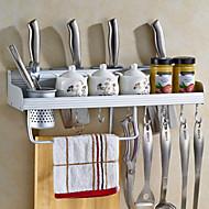 1 kjøkken rustfritt stål kokekar holdere vegghengere kjøkken rack