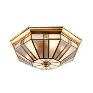 40タイルヨーロッパタイプのランプとランタンは、ドームライトを吸収するために契約されている完全な銅ランプ居間のベッドルームランプの照明勉強ベッドルームのランプresta