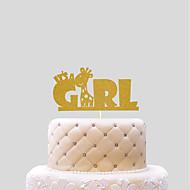 Figure za torte Novorođenče Hearts Papir Rođendan s 1 PVC vrećica