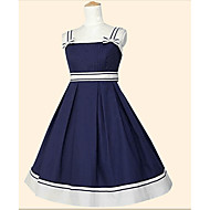 Sweet Lolita Princeza Žene Djevojčice JSK / Jumper suknja Cosplay Obala Cyan Crvena Bez rukávů Do sredine lista