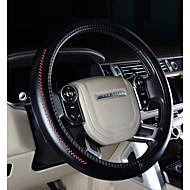 أغطية إطارات القيادة جلد أصلي 38cm أرجواني / كوفي / أسود-أحمر من أجل تويوتا Highlander / Camry / تاج كل السنوات