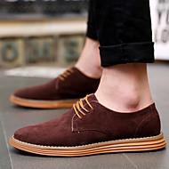 baratos Sapatos Masculinos-Homens Pele Outono / Inverno Conforto Oxfords Café / Azul / Castanho Claro