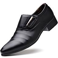 baratos Sapatos Masculinos-Homens Sapatos formais Couro Sintético Outono / Inverno Mocassins e Slip-Ons Preto / Marron / Festas & Noite