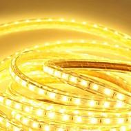 6メートル220Vのhigtの明るいは、EU電源プラグの光ストリップ柔軟5050 360smd 3結晶防水ライトバーのガーデンライトを導きました